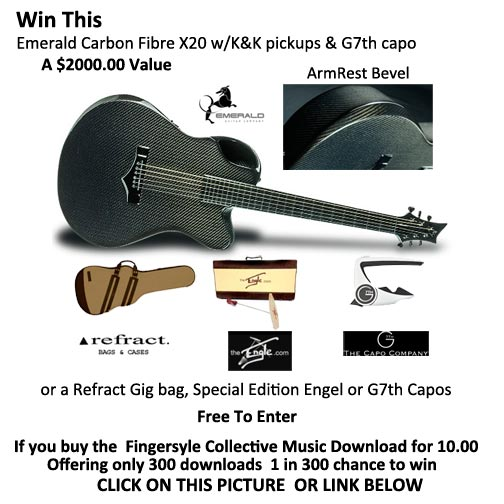 WIN A 2,000 Emerald Guitar, Free to Enter